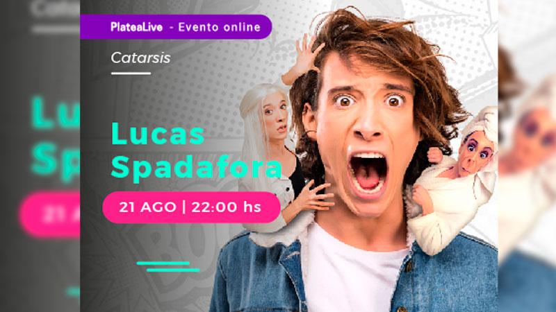 Lucas Spadafora se sumará a la experiencia de realizar teatro en vivo vía streaming