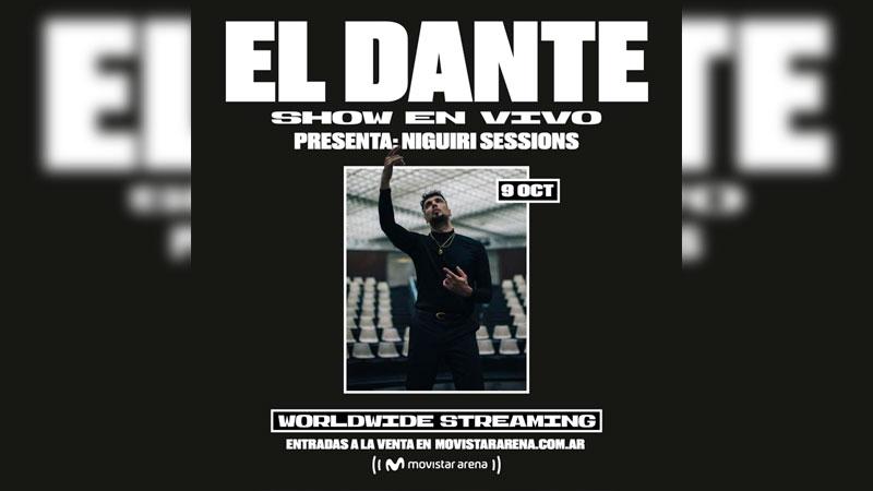 Dante Spinetta vuelve al escenario para presentar un show increíble desde el Movistar Arena que sera transmitido vía streaming.