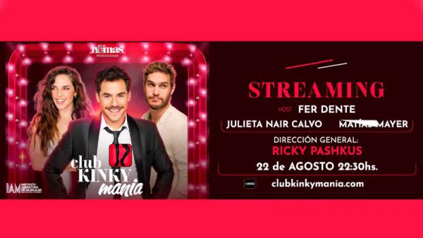 Rimas producciones presenta Club KinkyMania via Streaming