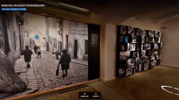 El Museo del Holocausto de Buenos Aires estrenó la plataforma de recorrido virtual en 360 grados de sus instalaciones