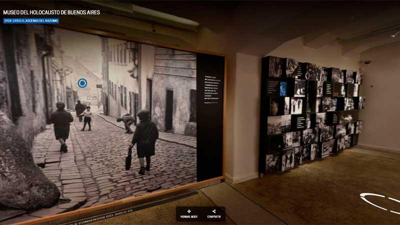 O Museu do Holocausto de Buenos Aires lançou a plataforma de tour virtual em 360 graus de suas instalações